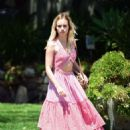 Suki Waterhouse in Pink outfit out in West Hollywood - 454 x 647