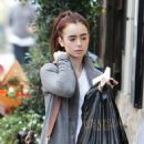 Lily Collins out in London (October 4)