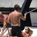 Brooke Burke in Pink Swimsuit – Celebrates her birthday on a yacht in Miami - 454 x 694