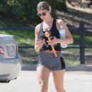 Shauna Sexton in Shorts – With Her Dog in Los Angeles