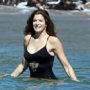 Stephanie Seymour Wearing Swimsuit In Maui