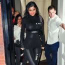 Kylie Jenner in Black Body Suit Out iin New York City