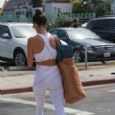 Alessandra Ambrosio – Out for a morning yoga session at Yogaworks in Santa Monica