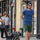 Zachary Quinto was spotted walking his dogs in New York City, New York on August 5, 2016 - 454 x 583
