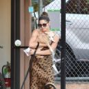 Ashley Greene with her dogs out in Studio City