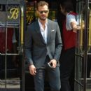 Jamie Dornan spotted leaving the Bowery Hotel in downtown Manhattan en route to record an appearance on The Late Show with Steven Colbert on August 4, 2016