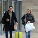 Gemma Atkinson and Aljaz Skorjanec – Arriving for dance rehearsals at a studio in Manchester - 454 x 579