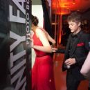 Selena Gomez and Justin Bieber at the Vanity Fair Phot Booth Oscar party 2/27/2011