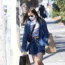 Lily Collins – Grocery shopping in LA