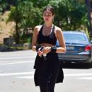 Amelia Hamlin in Gym Outfit – Out for a hike in Beverly Hills - 454 x 680