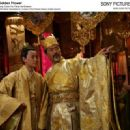 Qin Junjie as Prince Cheng, Chow Yun Fat as the Emperor. Photo by: Ms. Bai Xiaoyan © Film Partner International Inc. Courtesy of Sony Pictures Classics, all right reserved.