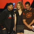 Kevin James, Jessica Biel and Adam Sandler during The 2007 MTV Movie Awards - Show - 454 x 333