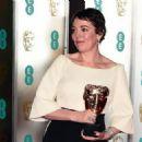 Olivia Colman At The BAFTAs 2019 - EE British Academy Film Awards - Press Room - 454 x 324