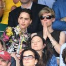 Emilia Clarke – Mens Singles Final at Wimbledon Tennis Championships in London - 454 x 341