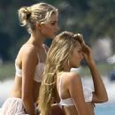 Elsa Hosk and Josephine Skriver on a Commercial Shoot in Miami - 454 x 578