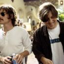 Billy Crudup and writer/director/producer Cameron Crowe on the set of Dreamworks' Almost Famous - 2000