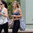 AnnaLynne McCord in Tights and Sports Bra out in Malibu - 454 x 659