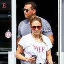 Jennifer Lopez in Spandex with Alex Rodriguez hit the gym in Miami