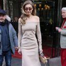 Gigi Hadid – Leaving Le Royal Monceau Raffles hotel in Paris