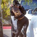 Kourtney Kardashian – In Tights seen leaving an art class in Woodland Hills - 454 x 681