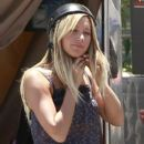 "Ashley Tisdale: filming ""Sons of Anarchy"" in Los Angeles"