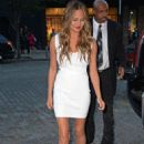 Chrissy Teigen In Mini Dress Out In New York City