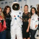"""Candice Swanepoel and the AXE Astronaut attend The Maxim Party With """"Gears of War: Judgment"""" For XBOX 360, FOX Sports & Starter Presented by Patron Tequila at Second Line Warehouse on February 1, 2013 in New Orleans, Louisiana"""