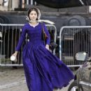 Jenna Louise Coleman Filming the ITV drama 'Victoria' in Hartlepool - 454 x 505