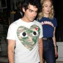 Sophie Turner and Joe Jonas – Arrives at 34 restaurant in Mayfair