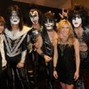 Kiss backstage at the 47th Annual Academy Of Country Music Awards held at the MGM Grand Garden Arena on April 1, 2012 in Las Vegas, Nevada