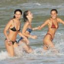 Bella Hadid – Spotted on the beach in St. Barts