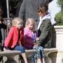 Rebecca Gayheart and her daughter Billie and Georgia are spotted out shopping at The Grove in Los Angeles, California on March 31, 2016 - 454 x 550
