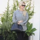 Holly Madison Leaves Lancer Dermatology in Beverly Hills - 454 x 683