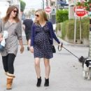 Anna Paquin taking her dog for a walk in Venice, CA (August 24) - 454 x 324