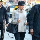 Pamela Anderson visits an art gallery with her boyfriend Rick Salomon on November 13, 2013 in New York City, New York