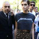 Kaia Gerber – Seen at Fendi Fashion Show in Milan - 454 x 681