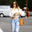 Alessandra Ambrosio In Jeans Out In Brentwood