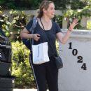 Elizabeth Berkley – Leaving a friends house in Beverly Hills - 454 x 681