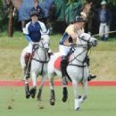 Prince William and Prince Harry playing polo in Beaufort, Gloucestershire (June 16)