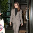 Felicity Jones – Leaving her hotel in NYC