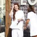 Lindsay Lohan at her newly opened club in Mykonos