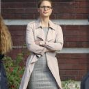 "Melissa Benoist: ""Supergirl"" Set in Vancouver 10/29/2018"