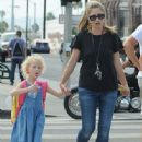 Rebecca Gayheart and her daughter Billie Dane spotted out and about in West Hollywood, California on September 8, 2014 - 446 x 594