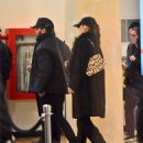 Bella Hadid and The Weeknd at movie theatre in New York