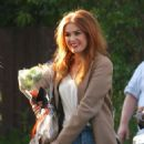 Isla Fisher – Arriving on the set of 'The Starling' in Studio City
