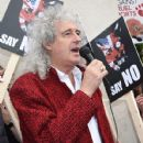Brian May leads an anti-fox hunting rally for PETA on July 14, 2015 in London, England. - 428 x 600