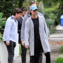Patrick Schwarzenegger and his mother Maria Shriver are spotted out house hunting for Patrick in Hollywood, California on January 10, 2017 - 448 x 600