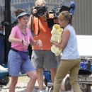 Jennifer Aniston and Kathryn Hahn on the set of 'We're The Millers' in Wilmington, North Carolina (July 24)