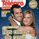 Jennifer Aniston, Justin Theroux - Télépro Magazine Cover [Belgium] (26 December 2015)