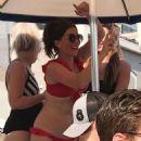 Candice Brown in Red Bikini – Wet Republic Pool Party in Las Vegas - 454 x 740